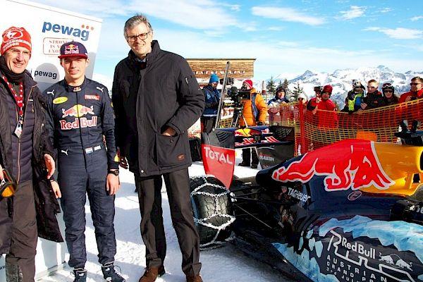 F1-Engine on Mount Hahnenkamm