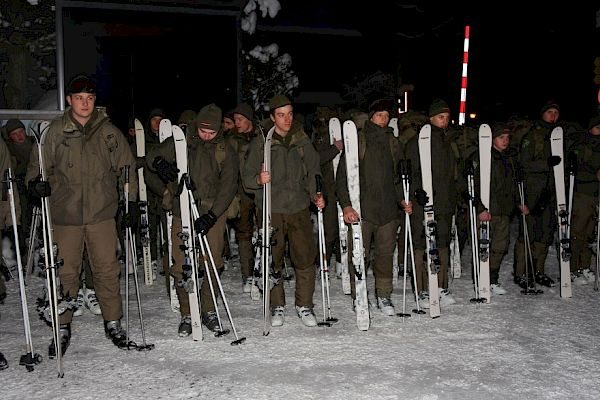 The Austrian Army has arrived at Hahnenkamm