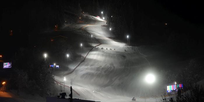 Lights on at the Ganslernhang