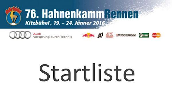 Startlist 1st Downhilltraining