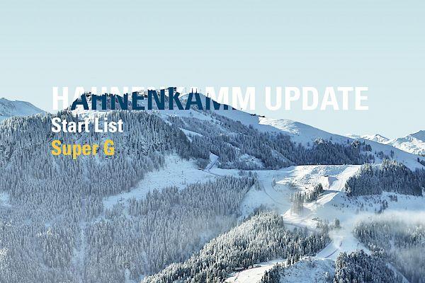 Start List Hahnenkamm Super-G