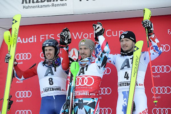 Die Pressekonferenz der Slalom-Sieger