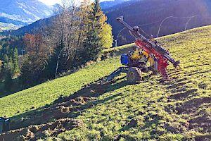 Hausberg Traverse - Bodenanker für Schneehaltesystem