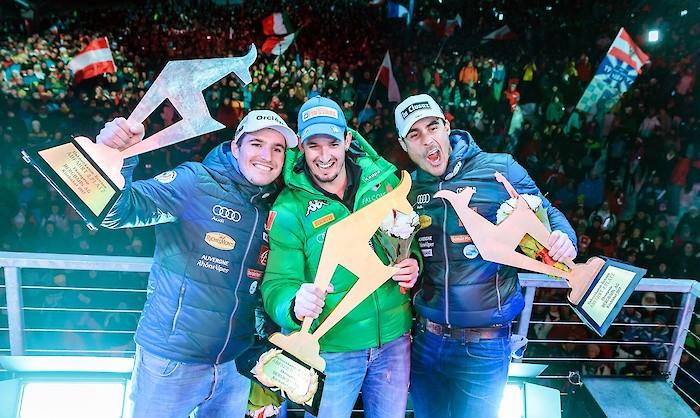 Sieger Abfahrt 2017, Foto © EXPA GRAPHICS
