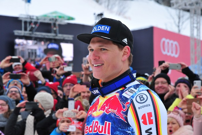 Portrait of Dressen, the Downhill winner: the new Hero of the Streif