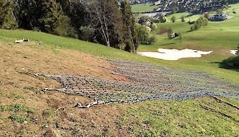 Schneehaltenetze am Hausberg entfernt