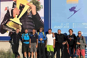V.l.: Michael Huber, Florian Schwenter, Toni Ehrensperger, Emanuel Couder, Hannes Trinkl, Markus Waldner, Mario Weinhandl, Gerhard Raffler.