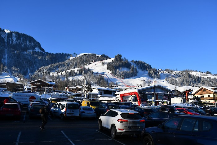 The Streif seen from the car park (Photo: KSC)