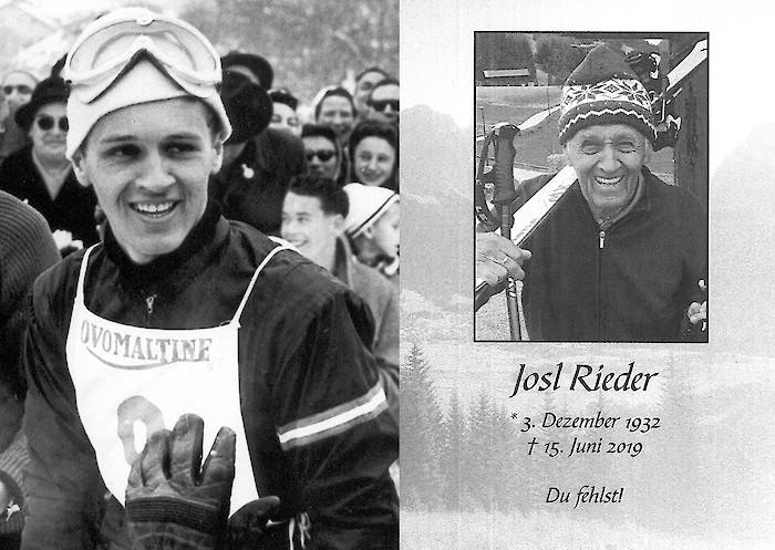 Josl Rieder wurde verabschiedet