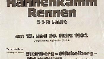 Hahnenkamm Plakat von 1932