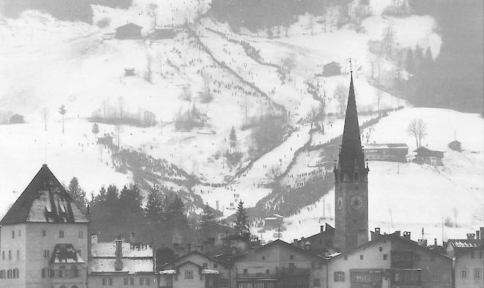 Foto © K.S.C.- Der Ganslernhang in den 1950er Jahren.