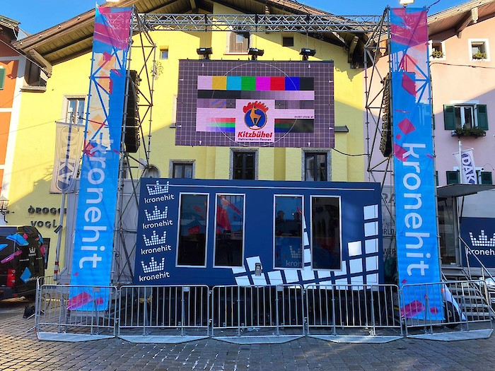 The Fan Zone in the historic town centre: A yearly highlight