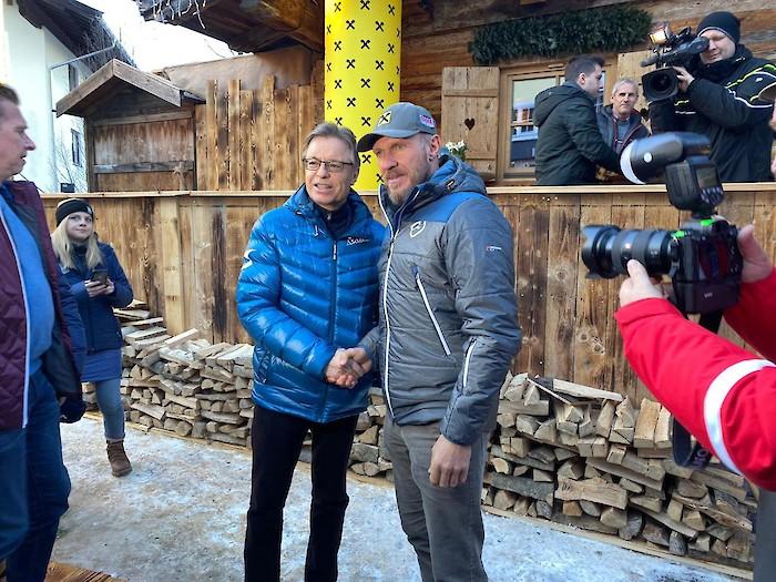 Sportlertreff mit Duo Hermann Maier und Max Franz
