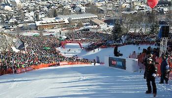 Final spectacle on the Ganslern slope