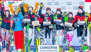 Team Tirol siegt beim Longines Future Hahnenkamm Champions