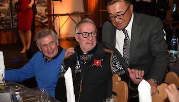 Drei Skilegenden: Patrick Russel, Jean-Noel Augert und Hiro Aihara (v.l.)