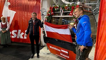 Dr. Anton Bodner (Chef Bergbahn AG) und Matthias Mayer. Foto: KSC