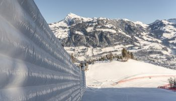 Piste prepping in glorious weather